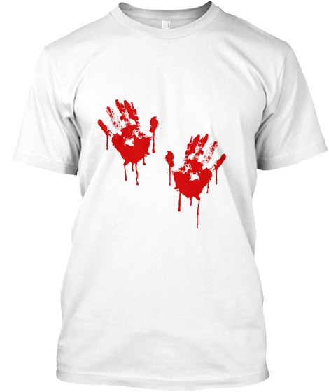 Bloody Handprint Horror Halloween Tee