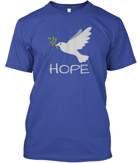 Hope Deep Royal T-Shirt Front