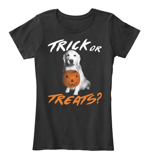 Trick Or Treats? Black Women's T-Shirt Front