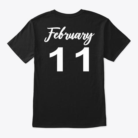 February 11   Aquarius Black T-Shirt Back