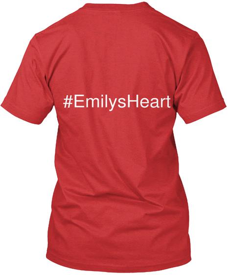 #Emilsheart Red T-Shirt Back