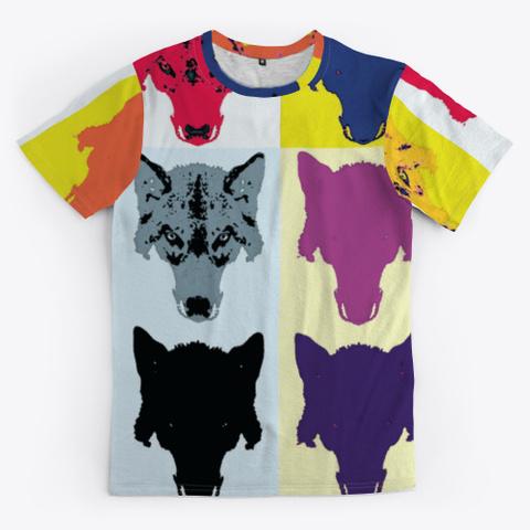 Wolf Head | Warholesque Pop Art | 90's Standard T-Shirt Front