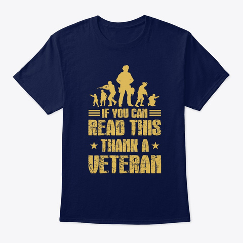 If You Can Read This Thank A Veteran Navy T-Shirt Front