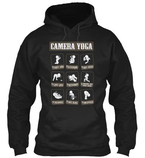 Camera Yoga Black T-Shirt Front