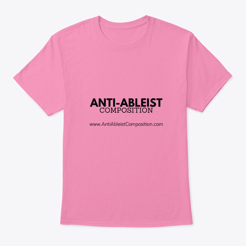 No Checklist Tee Pink T-Shirt Front