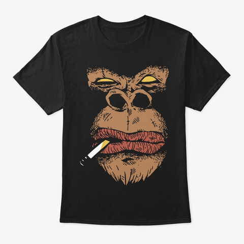 Angry Gorilla Black T-Shirt Front
