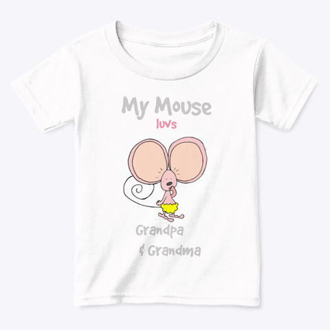 My Mouse   Luvs Mom & Dad, Kids T Shirt White  T-Shirt Front