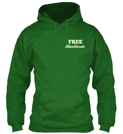 Free The Hammonds Free The Hammonds Galatians 5:1 Irish Green Sweatshirt Front