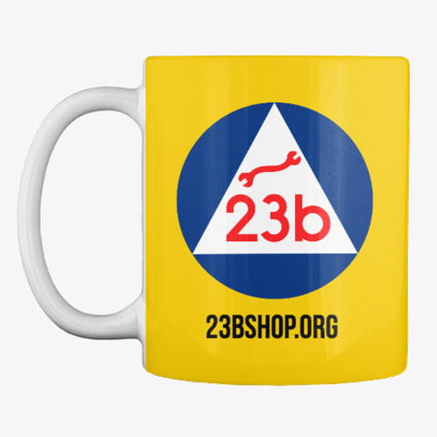 23b Swag Lemon Yellow Mug Front