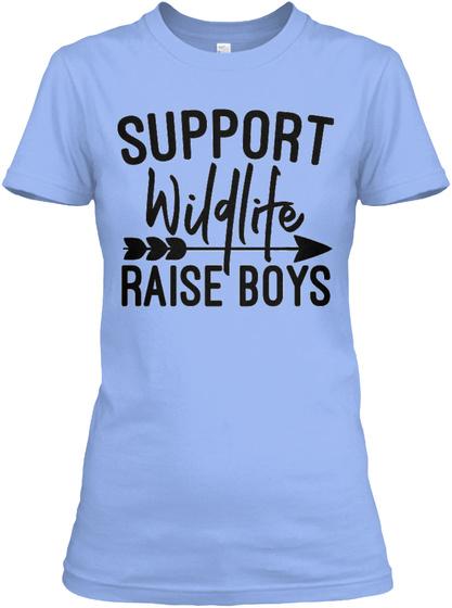 Support Wildlife Light Blue Women's T-Shirt Front