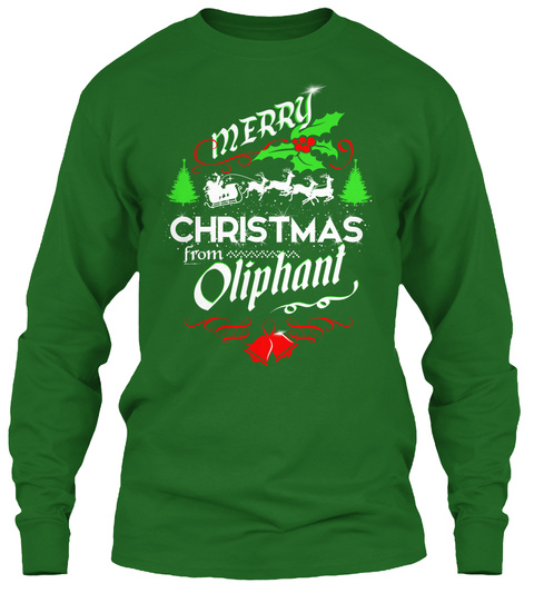 Xmas Gift From Oliphant  Irish Green T-Shirt Front