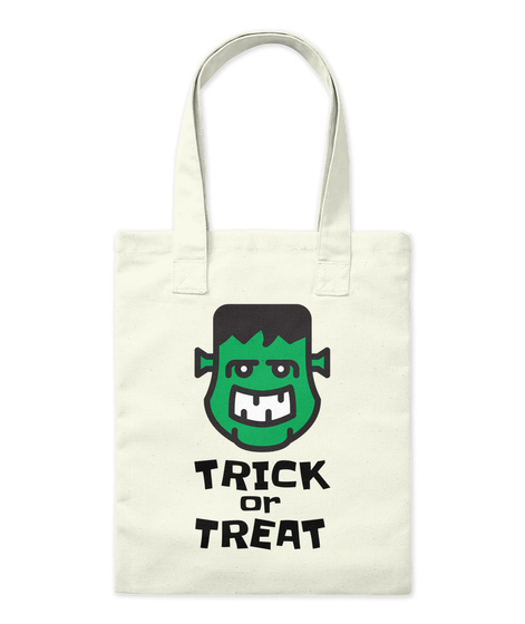 Trick Or Treat Natural T-Shirt Front