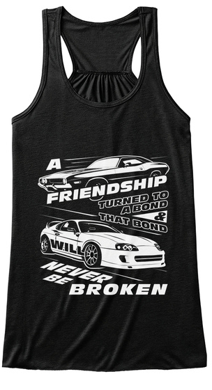Friendship   Women Tank Top [Front] Black T-Shirt Front