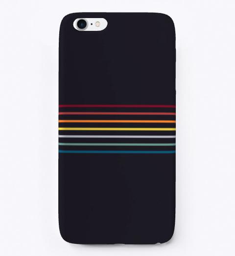 Fine Line Retro Rainbow Stripes Standard T-Shirt Front