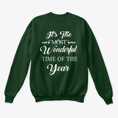 Wonderful Christmas Sweatshirt Sweater  Deep Forest  T-Shirt Front