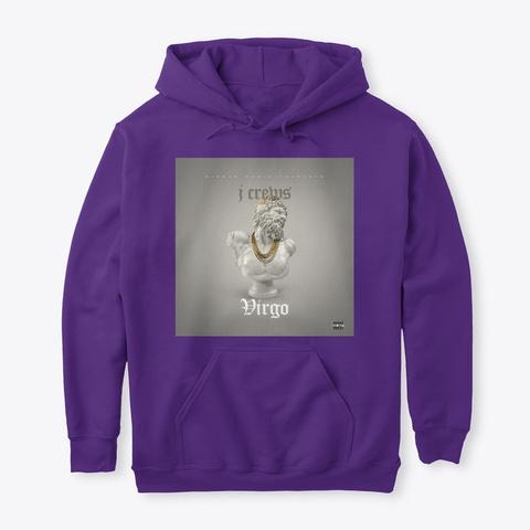 Virgo Hoodie Purple T-Shirt Front