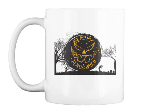 Halloween Mug White T-Shirt Front
