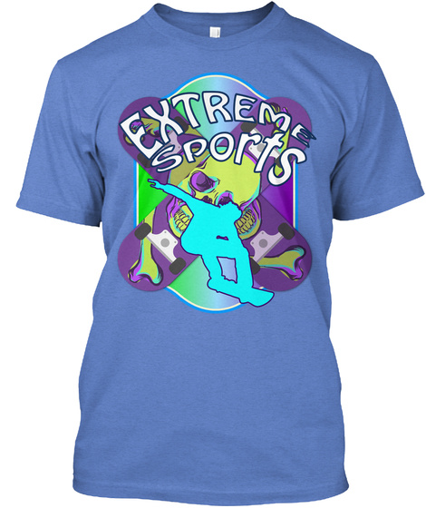 Extreme Sports Heathered Royal  T-Shirt Front