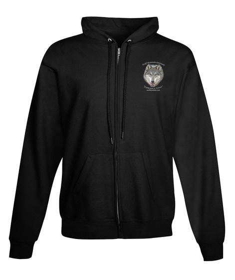 Zipped Hoodie Fundraiser   Wms Black Kaos Front