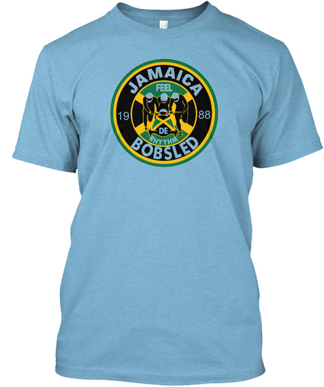 Jamaican Bobsled Team Collection Aqua T-Shirt Front