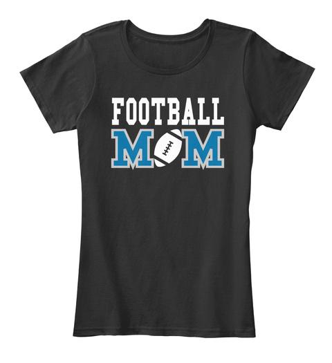 Football M   M Black Women's T-Shirt Front