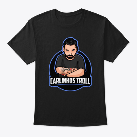 Carlinhostroll Black Camiseta Front