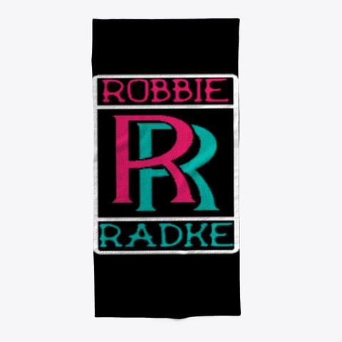 Radke Beach Towel Black T-Shirt Front