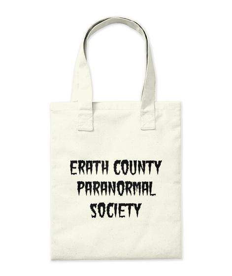 Erath County Paranormal Society Natural T-Shirt Back