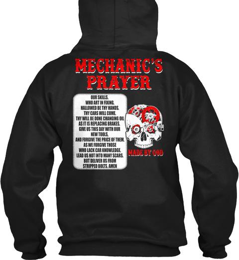 Mechanics Prayer Black T-Shirt Back
