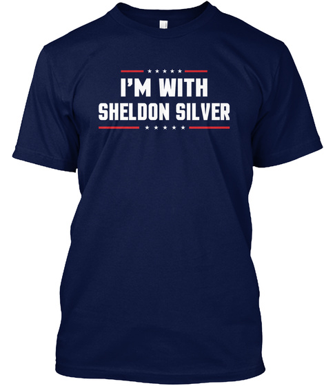 Im With Sheldon Silver Navy T-Shirt Front