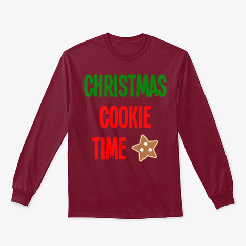 Christmas Cookie Time Merry Christmas Cardinal Red T-Shirt Front