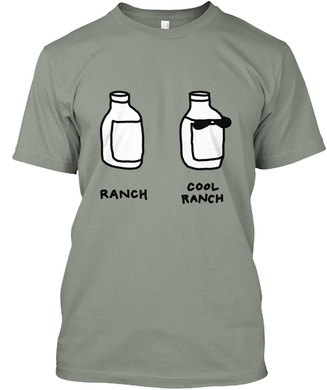 Ranch Cool Ranch Grey Kaos Front