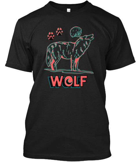 Wolf Wolf Black T-Shirt Front