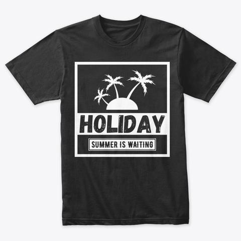 Holiday Summer Vintage Black T-Shirt Front