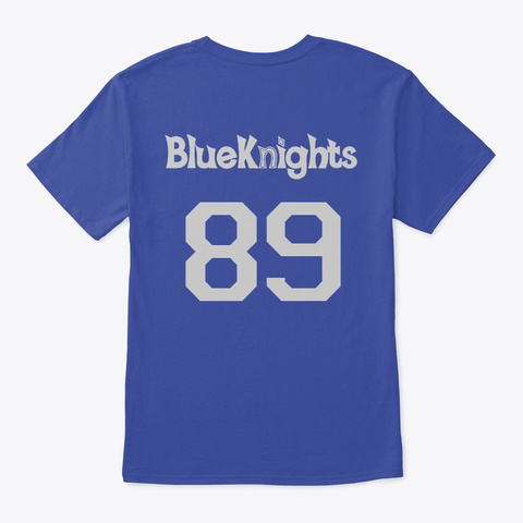 Irvington High Class Of 89 3 Deep Royal T-Shirt Back