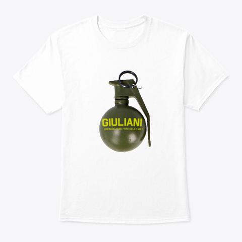 Toss A Giuliani  White T-Shirt Front
