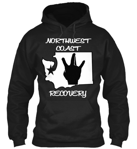 Northwest Coast Recovery Black T-Shirt Front