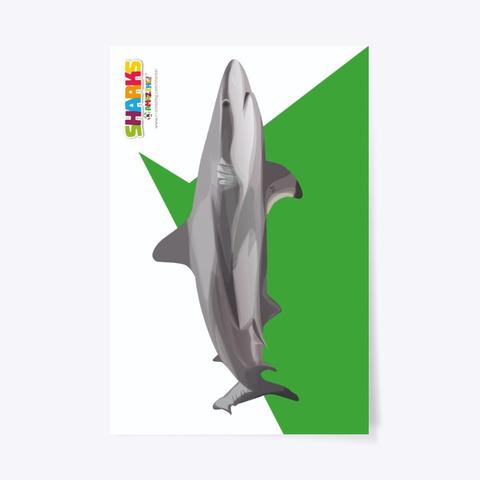 Lifesaving Shark Poster Standard T-Shirt Front