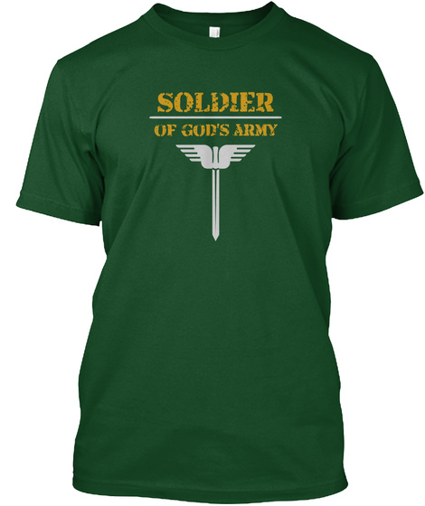 Soldier Of Gods Army Deep Forest T-Shirt Front