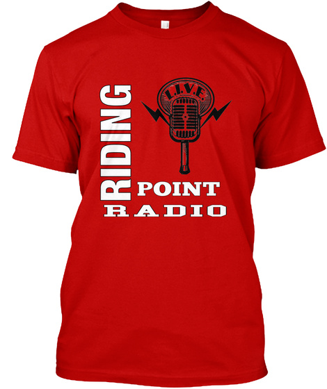 Riding Point Radio Classic Red T-Shirt Front