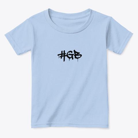 #Gb Kids Light Blue T-Shirt Front