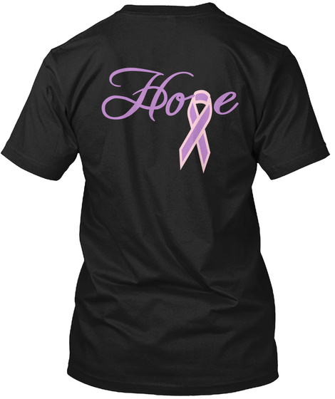 Hope Black T-Shirt Back