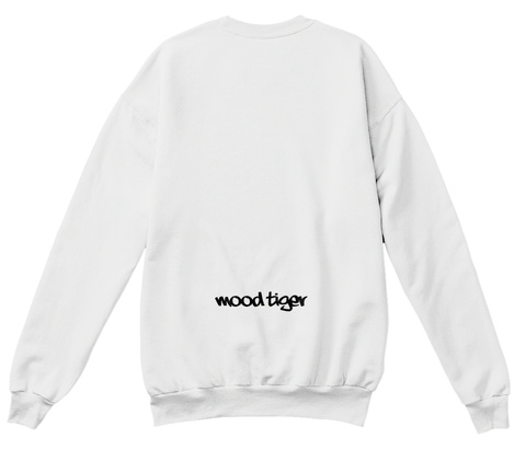 Mood Tiger White  T-Shirt Back
