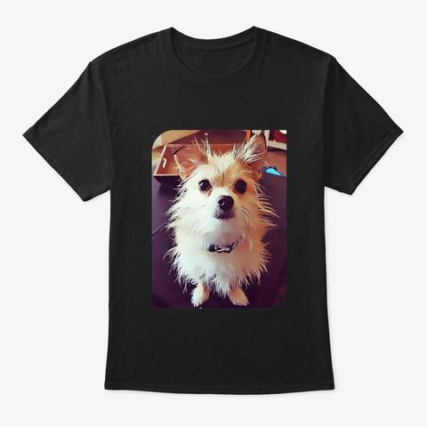Scruffypawz Personalized Shirt Black T-Shirt Front