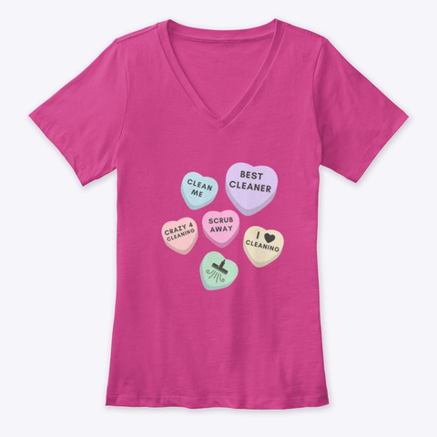 Cleaning Valentine Candy Berry T-Shirt Front