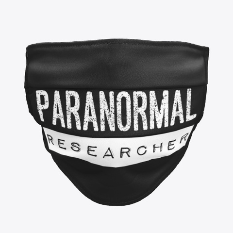 Paranormal Researcher Black T-Shirt Front