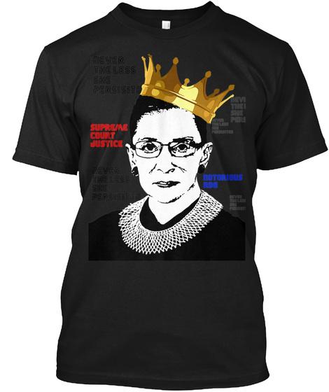 Notorious Rbg   Ruth Bader Ginsburg Wome Black T-Shirt Front