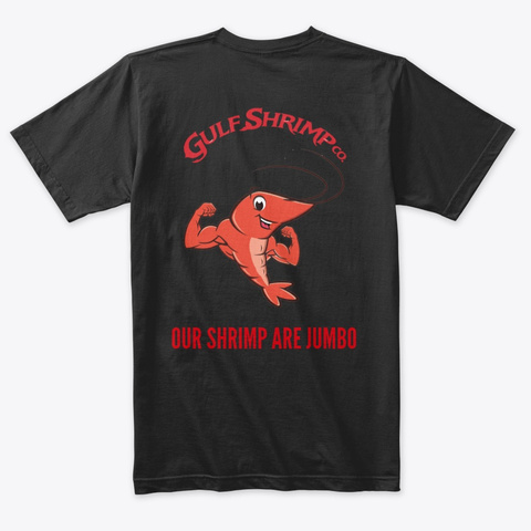 Our Shrimp Are Jumbo Vintage Black T-Shirt Back