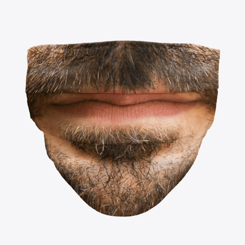 Mustache Face Mask  Standard Camiseta Front