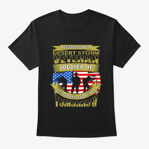 Desert Storm Veteran T Shirt Black T-Shirt Front